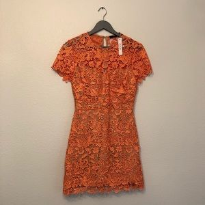 New with tags - Orange Crochet Dress Ark & Co.